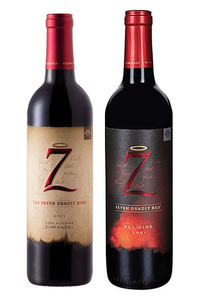 Seven Deadly Zins Zinfandel + Seven Deadly Red. 750ml