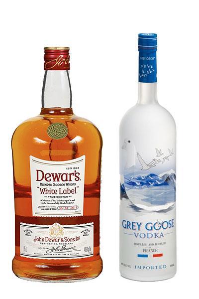Dewar's 1.75 L  + Grey Goose 750 ml