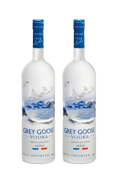 Grey Goose Vodka 750 ml x 2